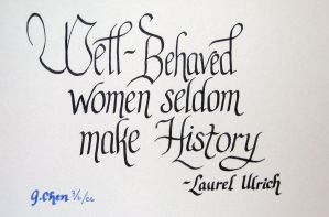 Well-Behaved Women by unknowninspiration