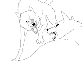 Wolf lineart 1 by lineart4you