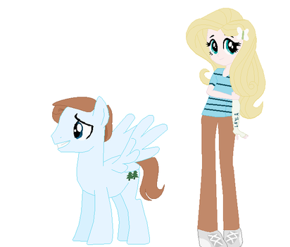 Crossover AU Evan and Fluttershy by EverythingReviewer