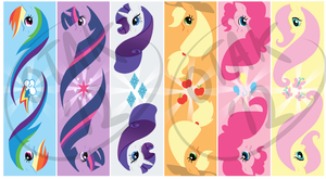 MLP bookmarks by SaucyMcFuzzy