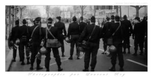 French police facing a demonstration in 1983 by laurentroy