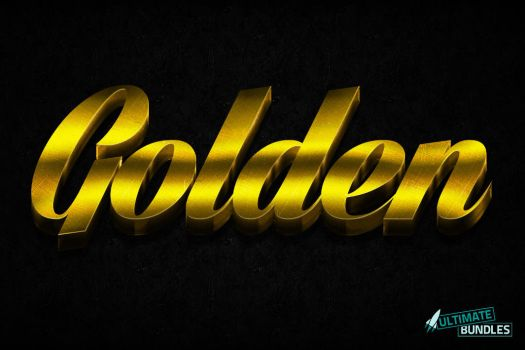 3D Gold Layer Styles for Photoshop by xstortionist