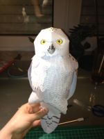 white owl papercraft by ScarletHeartfilia