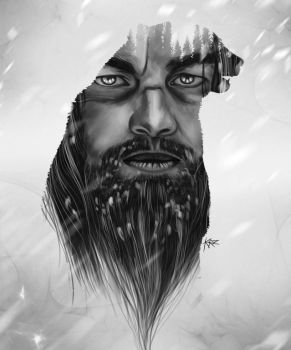 The Revenant Leonardo DiCaprio illustration by Kvnruz