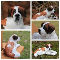 Saint Bernard Sculpture 01 by Ingridda