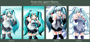 Draw this again - Hatsune Miku by FeliciaSilvermoon