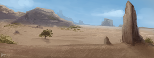 DAY 414. Desert by Cryptid-Creations