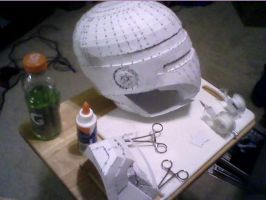 Bat Armor: Helmet Construction, Part 1 by scenturion666