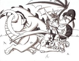 Commish: Thorn and the Family by GL1TCH-CR3AT0R