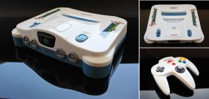 Custom starfox themed Nintendo 64 by Zoki64