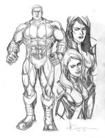 Colossus Pencils by ncajayon