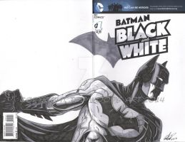 Batman: Black and White Sketch Cover 1 by tedwoodsart