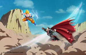 Goku vs Superman by JayC79