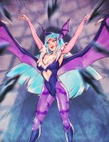 Darkstalkers: Morrigan by nakanoart