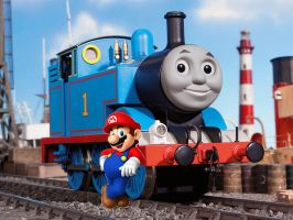Thomas and Mario by BigJohnnyCool