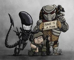 Aliens vs. Predator Group Photo by JoshNg