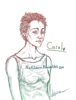 --The Walking Dead: Carol-Sketch-- by NickLavin