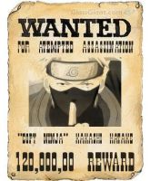 Kakashi Hatake wanted poster by RapKat77