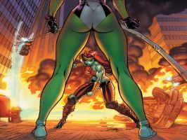 Marvel She-Hulk Wallpaper 1024-768 Modified by YogurthFrost