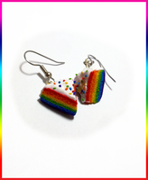 Rainbow Cake earrings by CookingMaru