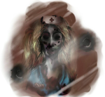 Lucy - Sketch of a Zombie Nurse. by Laurenthebumblebee
