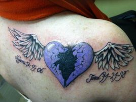 Broken Heart with wings by CabletheAngel