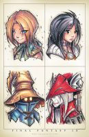 FF9 Groupshot by RobDuenas