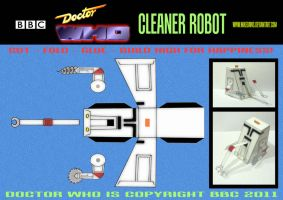 Doctor Who - Cleaner Robot by mikedaws