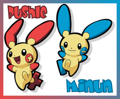 Pushle + Minun by LeeRoberts