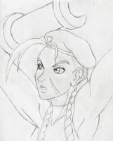 Cammy's SSF 2 HD select sketch by HPL-The-Outsider