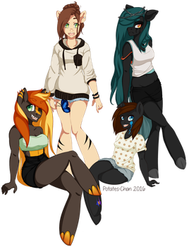 OC Anthro Group by Potates-Chan