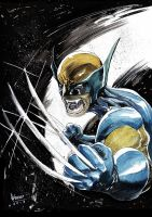 Wolvie watercolour original adjusted 100 by ickhwano
