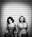 Marilyn and Liz in 'Daisy and Peaches' by BRAILLIANTart