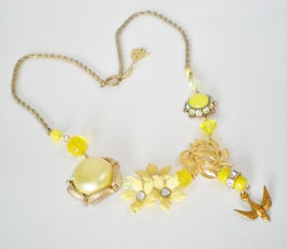 Mellow Yellow Statement Necklace by RetroRevivalBoutique