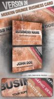 Modern Grunge Business Card by graphex