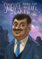 Neil deGrasse Tyson by danidraws