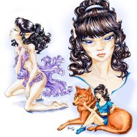 Moonshade - Elfquest fan calendar 2012 by PhoenixAnna