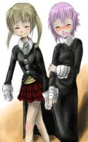 Maka and Crona by ryuzaki1