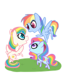 Rainbow Ponies by Otterlore