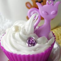 Purple Miss Kitty Cupcake by AndyGlamasaurus