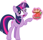 Talking sandwich, Shining Armor style by scienceisanart
