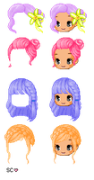 Fantage Hair Pack (Ask permission and credit!) by SkylerCloudie