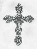 cross tattoo by Birdofflame