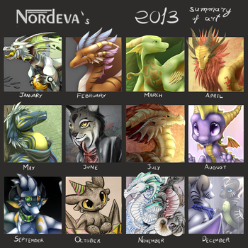 2013 art summary by Nordeva