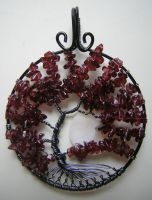 Red Cherry Blossoms *SOLD* by RachaelsWireGarden