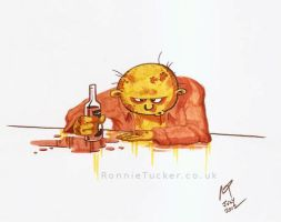 Steve the depressed zombie by ronnietucker