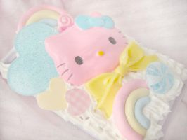 hot pink hello kitty case by ElizabethKathryn