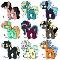 Free Pony Adopts (CLOSED) by Neon-Spots-Adopts