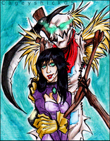 ArtTrade: Fiddlesticks and Venganza by Cageyshick05