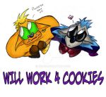 Will work for cookies..... by Teles